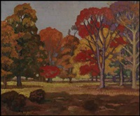 fall landscape at lachine by randolph stanley hewton