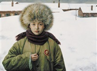 the memory of youth no.10 - quiet snow by liu kongxi