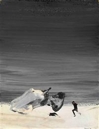 flying men (+ another, smllr; 2 works) by pyotr belenok
