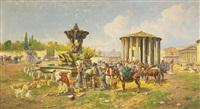the temple of vesta, rome by pietro barucci