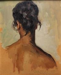 mujer de espaldas by josé cruz herrera