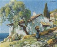paysage provençal by leo fontan