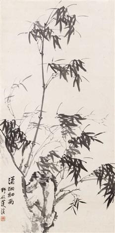 bambus an einem felsen by lianxi