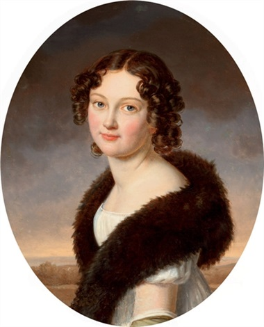 portrait of countess hélène lavadovsky née vlodek by henri françois riesener