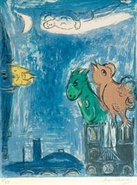 les monstres de notre dame by marc chagall