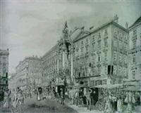 der hohe markt in wien 1889... by gustav von korompay