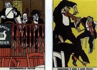 salonkapelle mayer, nr.508 (+ zwischen 3 und 4 uhr früh!, nr.510; 2 postcards) by moritz jung