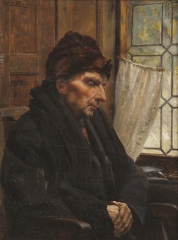Homme dans sa robe de chambre près de la fenêtre by Charles Boom on ...