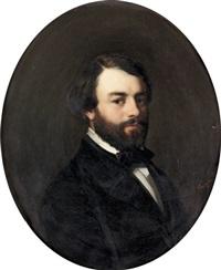 porträt eines eleganten herrn by jean marius fouque