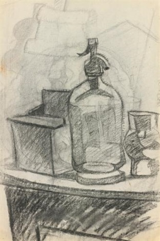 le siphon recto étude de nu et étude de tête verso by juan gris