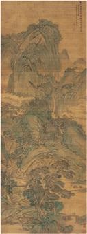 林泉风会图 (landscape) by xu jian