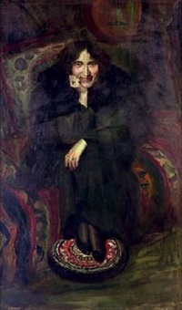 dama sentada con manton by manuel abelenda