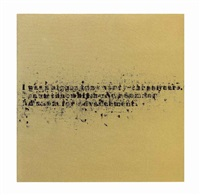 no room (gold) #7 by glenn ligon