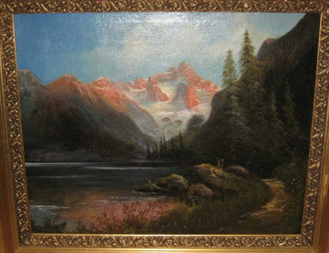 mountain landscape by carl anton saabye