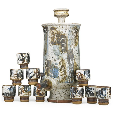 samovar tap and ten cups 11 works by peter voulkos