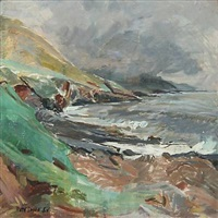 ved stranden (bay). coastal scene from the faroe islands by ruth smith