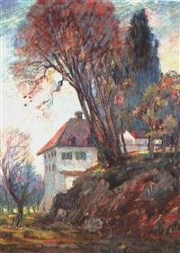 landschaft mit haus by carl adolf korthaus