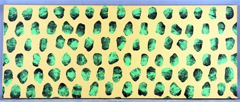 untitled (green rocks and orange) by dinos chapman