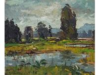 grey day, dal josaphat by piet (pieter gerhardus) van heerden