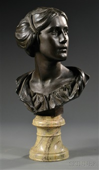 bronze bust of a woman by james pittendrigh macgillivray