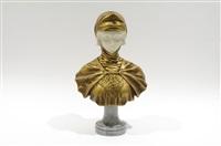 buste de jeune femme au diadème à la fleur de lys by gustave van vaerenbergh
