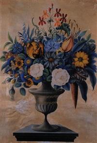 vase mit blumenstrauss by ige metzger