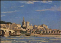avignon (from the rhone) by richard jack