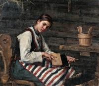 girl carding by maria wiik