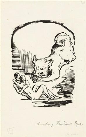 illustrationen zu jean paul die wunderbare gesellschaft in der neujahrsnacht 11 works by alfred kubin