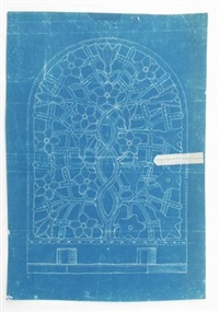 untitled (design for wall sconce) by ernest william gimson