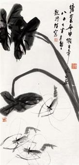 墨虾 镜心 纸本 by jiang fengbai