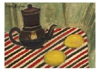coffee pot and lemon by zenzaburo kojima