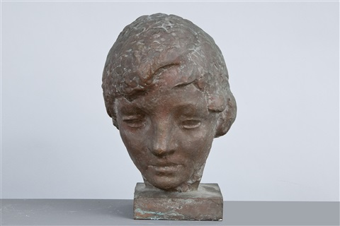 a head of a woman by wäinö aaltonen