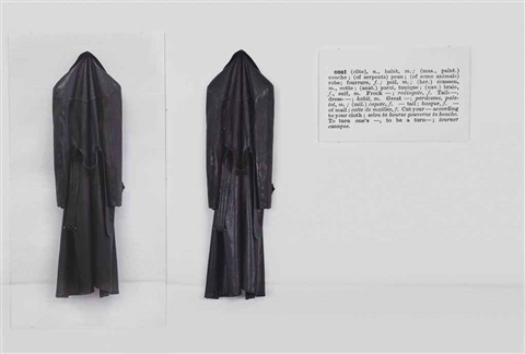 one and three coats in 3 parts by joseph kosuth