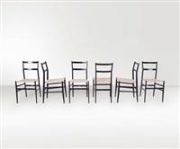sei sedie superleggera by gio ponti
