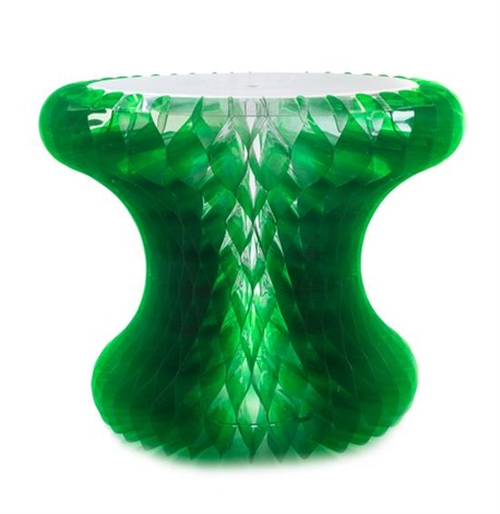 A Clear And Green Plastic Gello Side Table By Marc Newson
