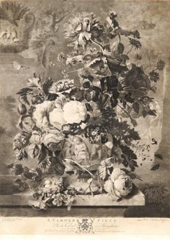 a flower piece after jan van huysum by richard earlom