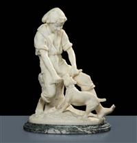 ragazzo con cane by léon pilet