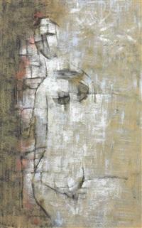 untitled (nude) by gulam rasool santosh