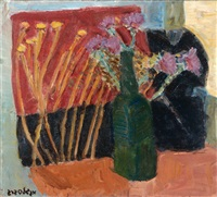 vase of flowers by leon engelsberg
