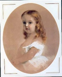 portrait of a young girl in a white dress by arthur t. leyde