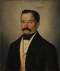 ritratto di gentiluomo con foulard by pompeo litta