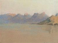 vue du lac d'annecy by marie loise amiet