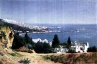 vue de la baie d'alger by a. leprovost