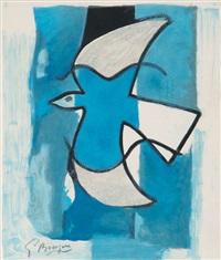 l'oiseau bleu et gris by georges braque