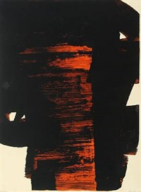 lithographie no. 26 by pierre soulages