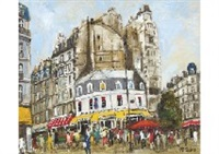 morning market in paris by takuji seki