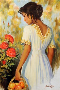 girl with apples by andrei markin