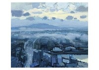 town in the rain by hitoshi yamaba