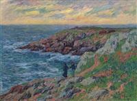 falaises de clohars-carnöet by henry moret